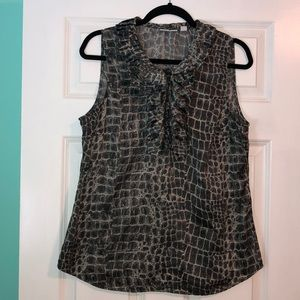NY&Co animal print sleeveless blouse